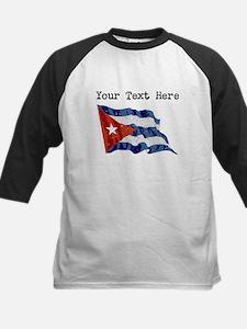 Cuba Flag (Distressed) Baseball Jersey