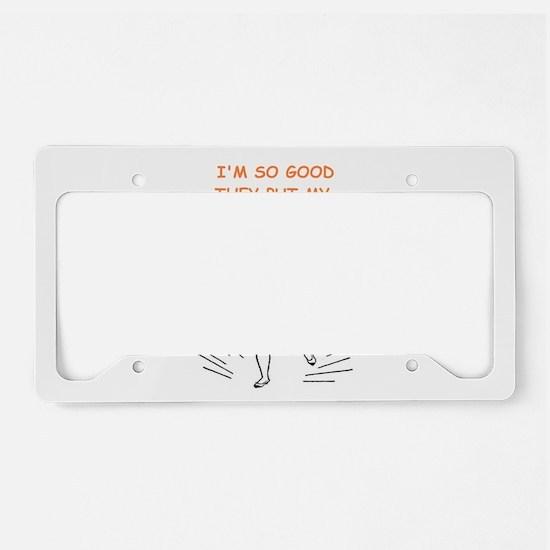 tap dancing License Plate Holder