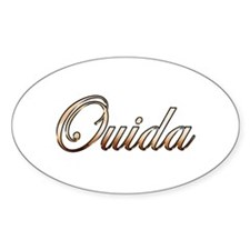 Gold Ouida Decal