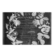 vintage chic botanical le Postcards (Package of 8)