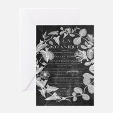vintage chic botanical leaves Greeting Cards
