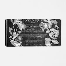 vintage chic botanical leav Aluminum License Plate