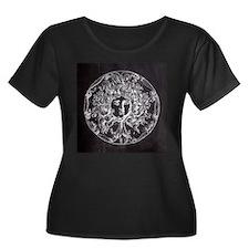 chalkboard vintage medusa Plus Size T-Shirt