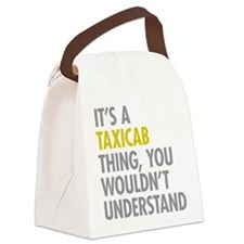 Taxicab Thing Canvas Lunch Bag
