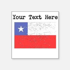 Chile Flag (Distressed) Sticker