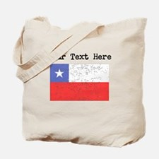 Chile Flag (Distressed) Tote Bag
