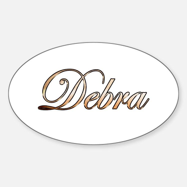 Gold Debra Decal