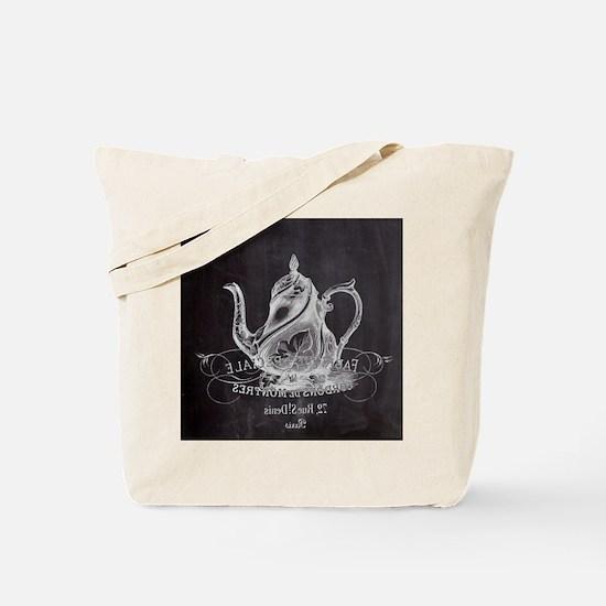 shabby chic teapot Tote Bag
