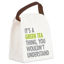 Green Tea Thing Canvas Lunch Bag