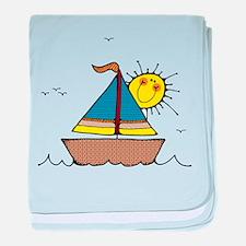 Sunny Sailboat baby blanket