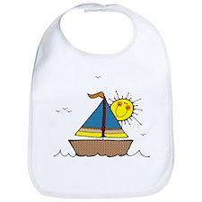 Sunny Sailboat Bib