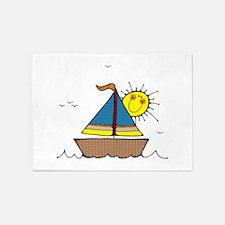 Sunny Sailboat 5'x7'Area Rug