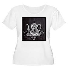shabby chic teapot Plus Size T-Shirt