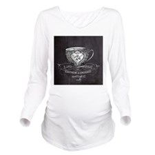 french chic teacup Long Sleeve Maternity T-Shirt