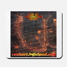 Rock Art Preservation Society Giant Cent Mousepad