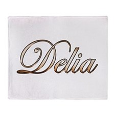 Gold Delia Throw Blanket