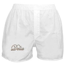 Gold Delia Boxer Shorts