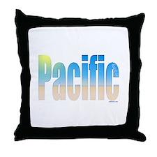 Cute Pacific beach ca Throw Pillow