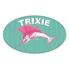 Trixie Sailfish Sticker (oval 50 Pk)