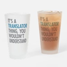 Translator Thing Drinking Glass