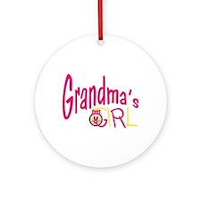 Grandmas Girl Ornament (Round)
