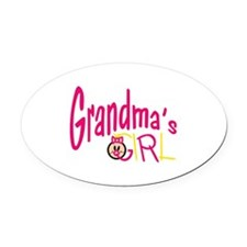 Grandmas Girl Oval Car Magnet