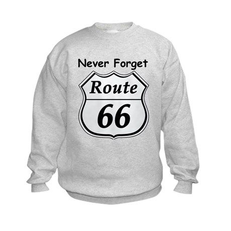 Never Forget Rt 66 Kids Sweatshirt