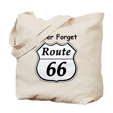 Never Forget Rt 66 Tote Bag