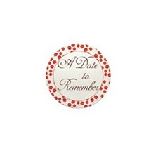 Rosy Date to Remember Mini Button (10 pack)