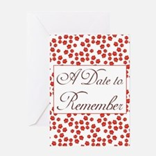 Rosy Date to Remember Greeting Card
