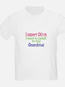 I Didnt Do It!Grandma! T-Shirt