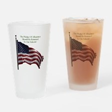 Pledge Of Allegiance Drinking Glass