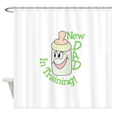 New Dad Shower Curtain