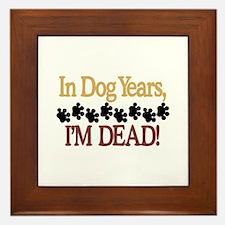 Dog Years Framed Tile