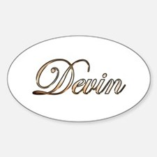 Gold Devin Decal