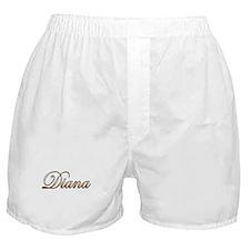 Gold Diana Boxer Shorts