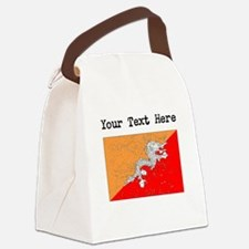 Bhutan Flag (Distressed) Canvas Lunch Bag