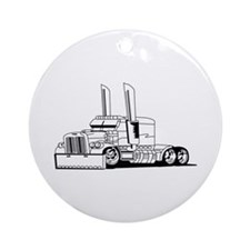 Truck Outline Ornament (Round)