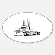 Truck Outline Bumper Stickers