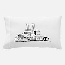 Truck Outline Pillow Case