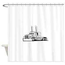 Truck Outline Shower Curtain