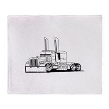 Truck Outline Throw Blanket