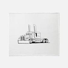 Truck Outline Throw Blanket