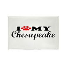 Chesapeake - I Love My Rectangle Magnet