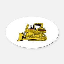 Dozer Oval Car Magnet