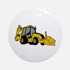 Backhoe Ornament (Round)