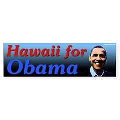 Hawaii for Obama bumper sticker