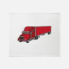 Semi-Truck 1 Throw Blanket