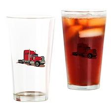 Semi Truck Drinking Glass