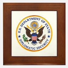 Diplomatic Security Framed Tile